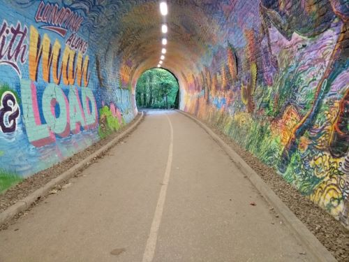 Another wide view from inside tunnel lo